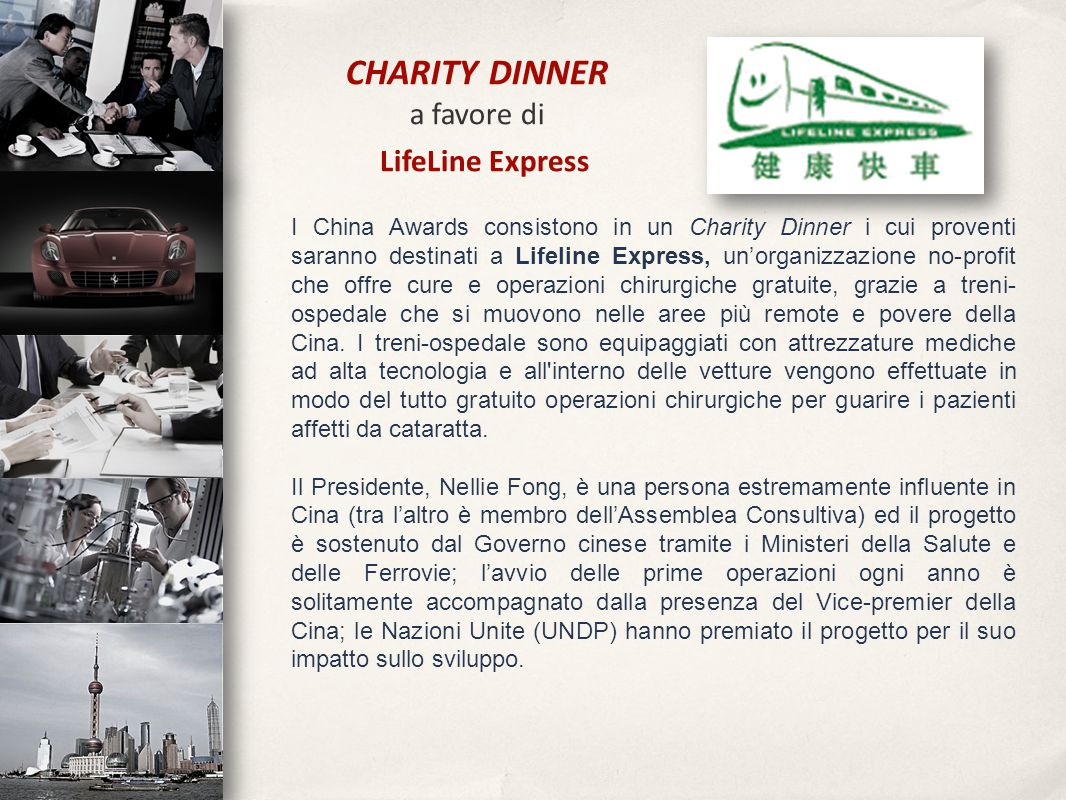 CHARITY DINNER a favore di LifeLine Express