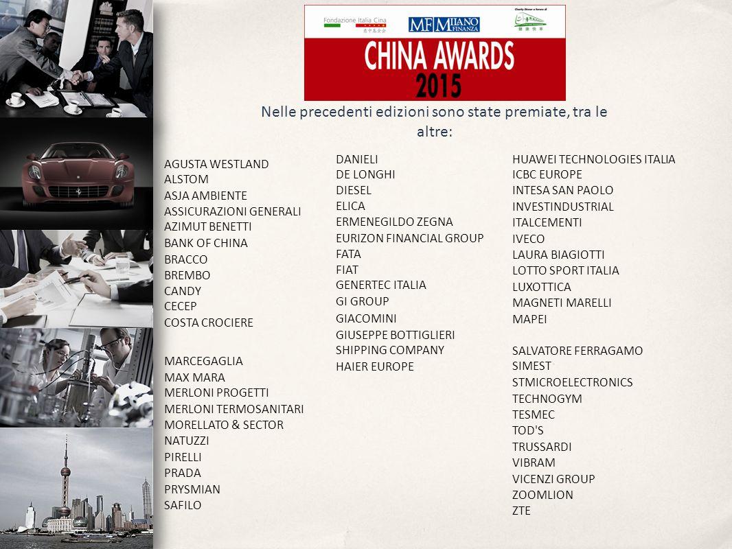 Nelle precedenti edizioni sono state premiate, tra le altre: