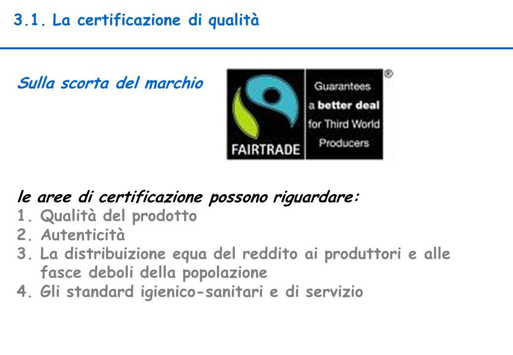 3.1. La certificazione di qualità