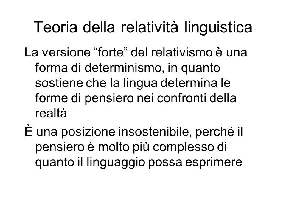 Teoria della relatività linguistica