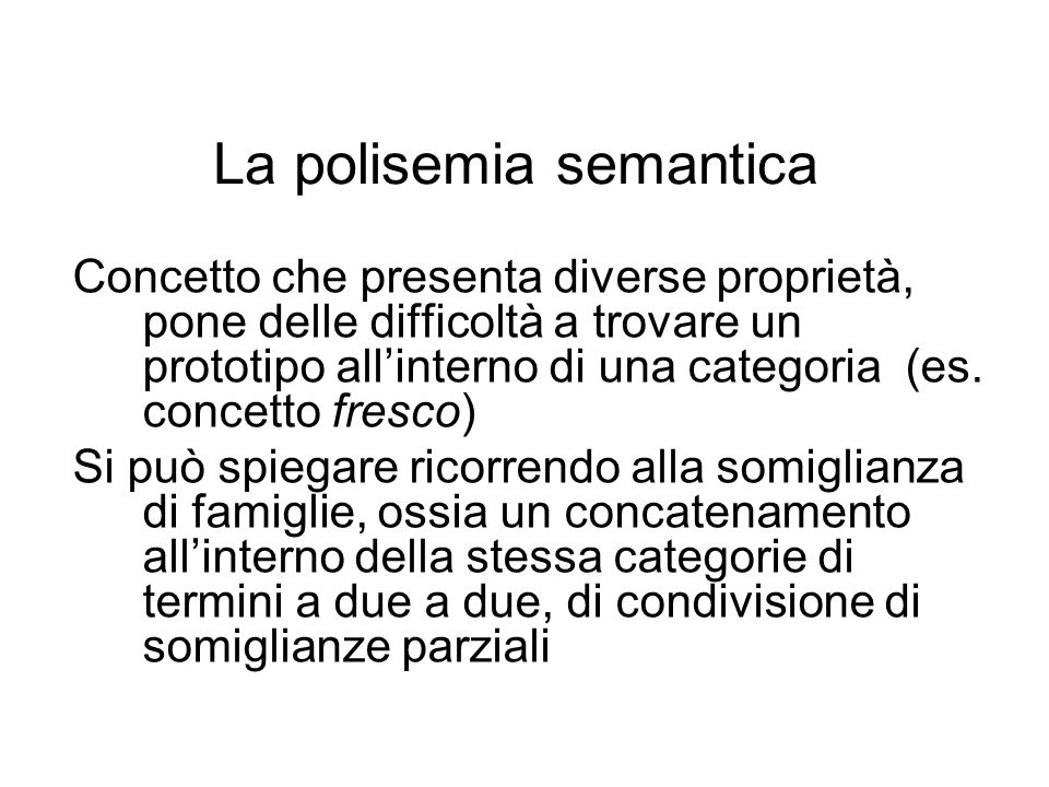 La polisemia semantica