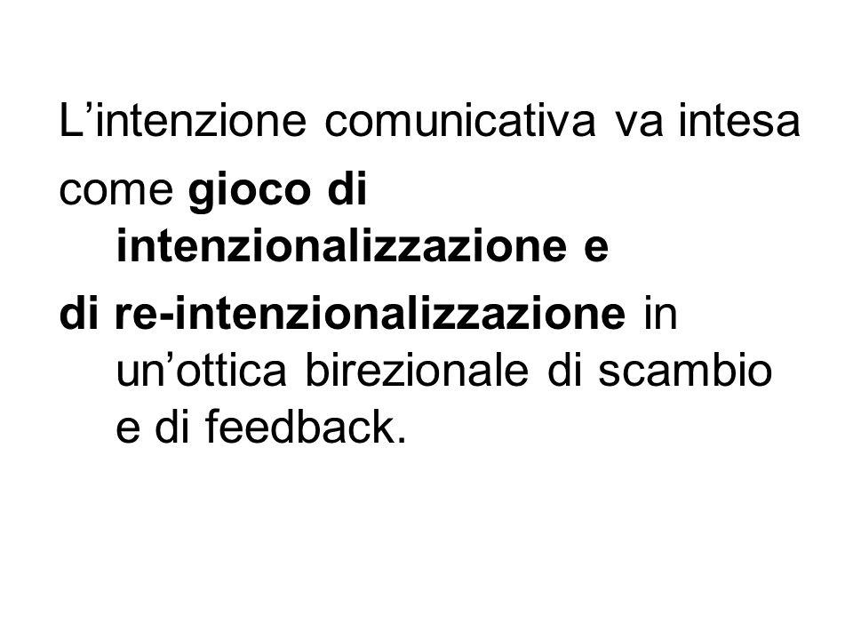 L'intenzione comunicativa va intesa