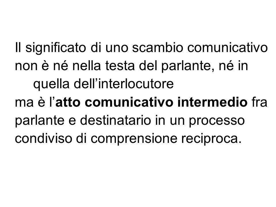 Il significato di uno scambio comunicativo