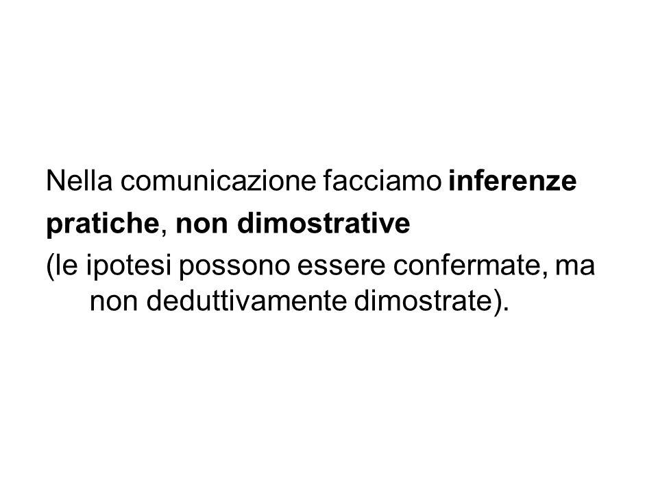 Nella comunicazione facciamo inferenze