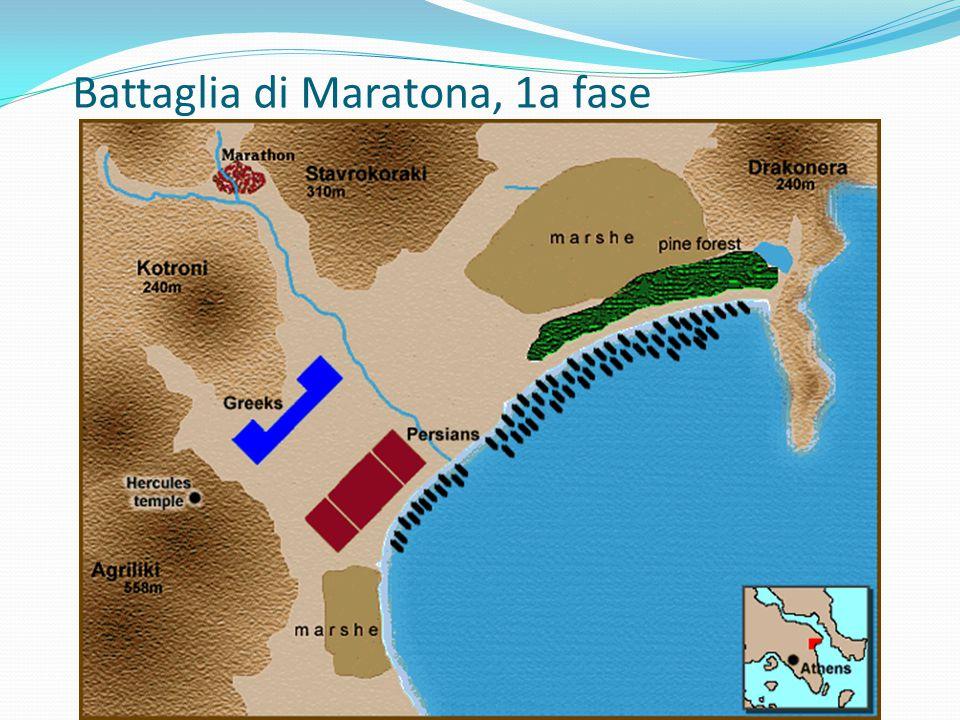 Battaglia di Maratona, 1a fase