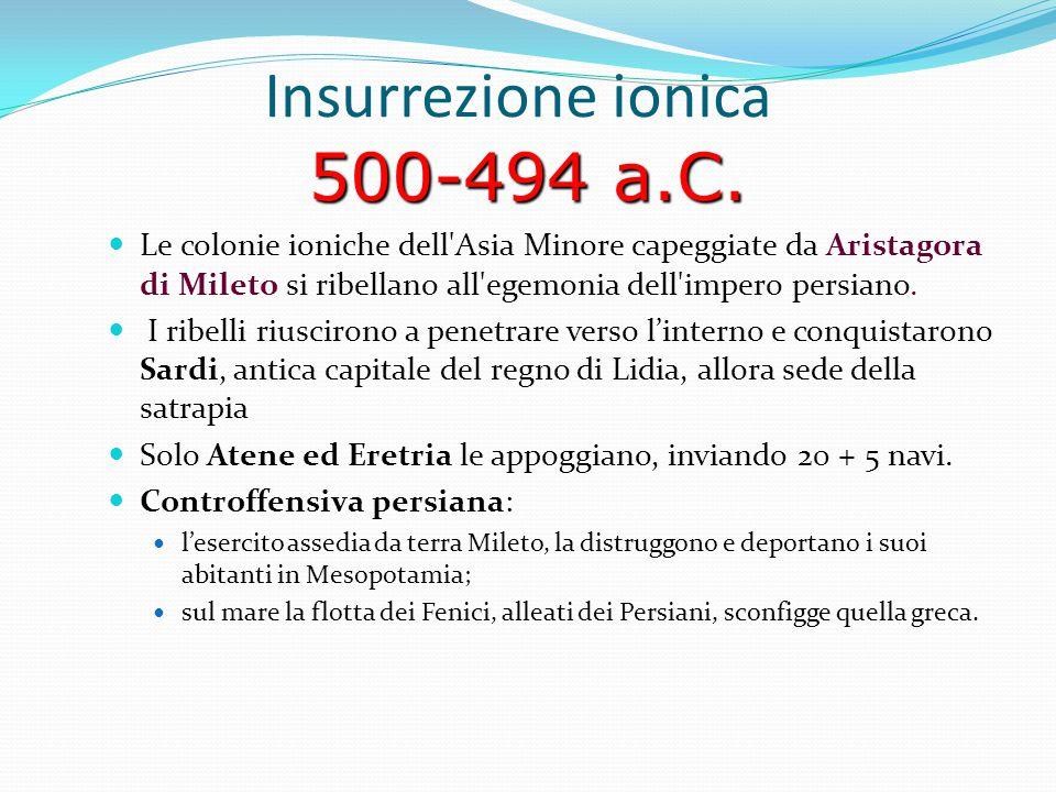 Insurrezione ionica 500-494 a.C.