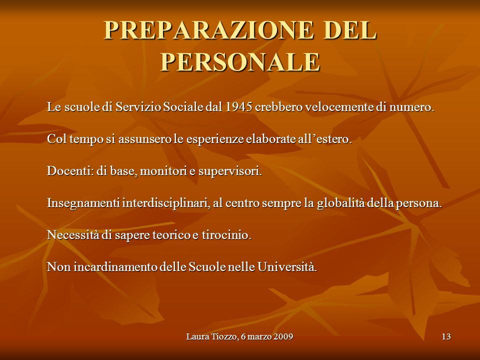 PREPARAZIONE DEL PERSONALE