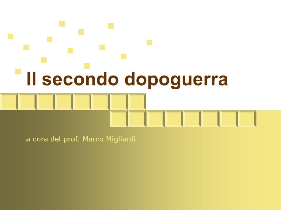 a cura del prof. Marco Migliardi