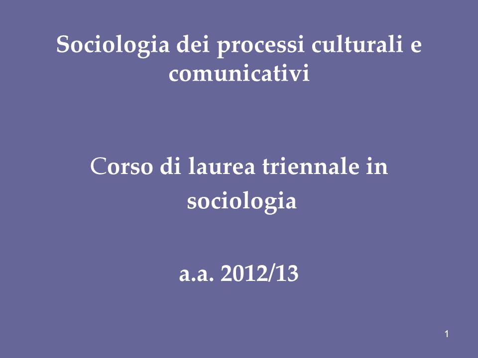 Sociologia dei processi culturali e comunicativi