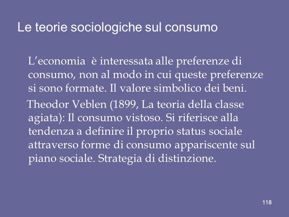 Le teorie sociologiche sul consumo