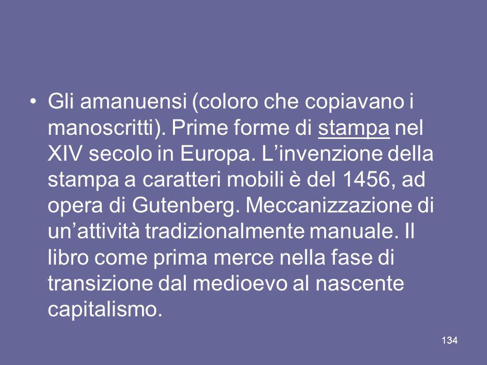 Gli amanuensi (coloro che copiavano i manoscritti)