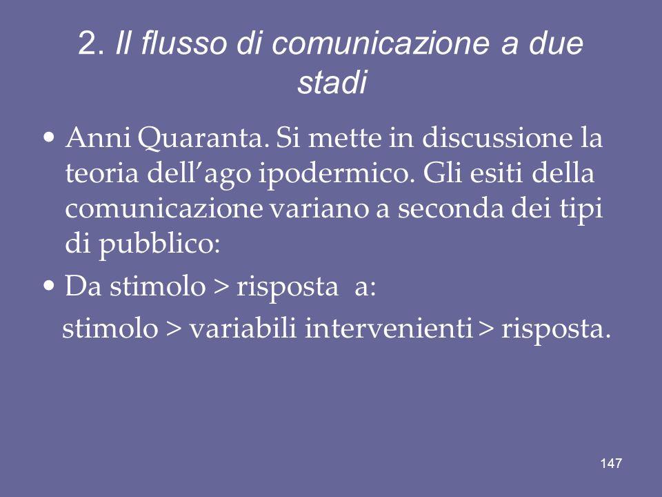 2. Il flusso di comunicazione a due stadi