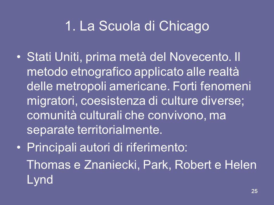 1. La Scuola di Chicago