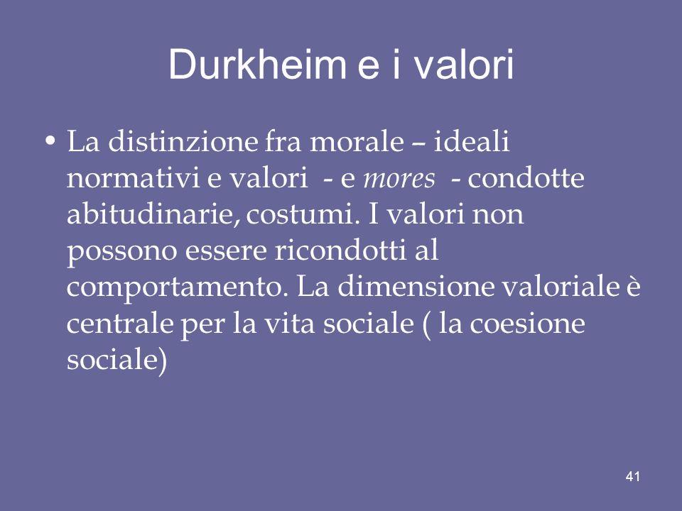 Durkheim e i valori