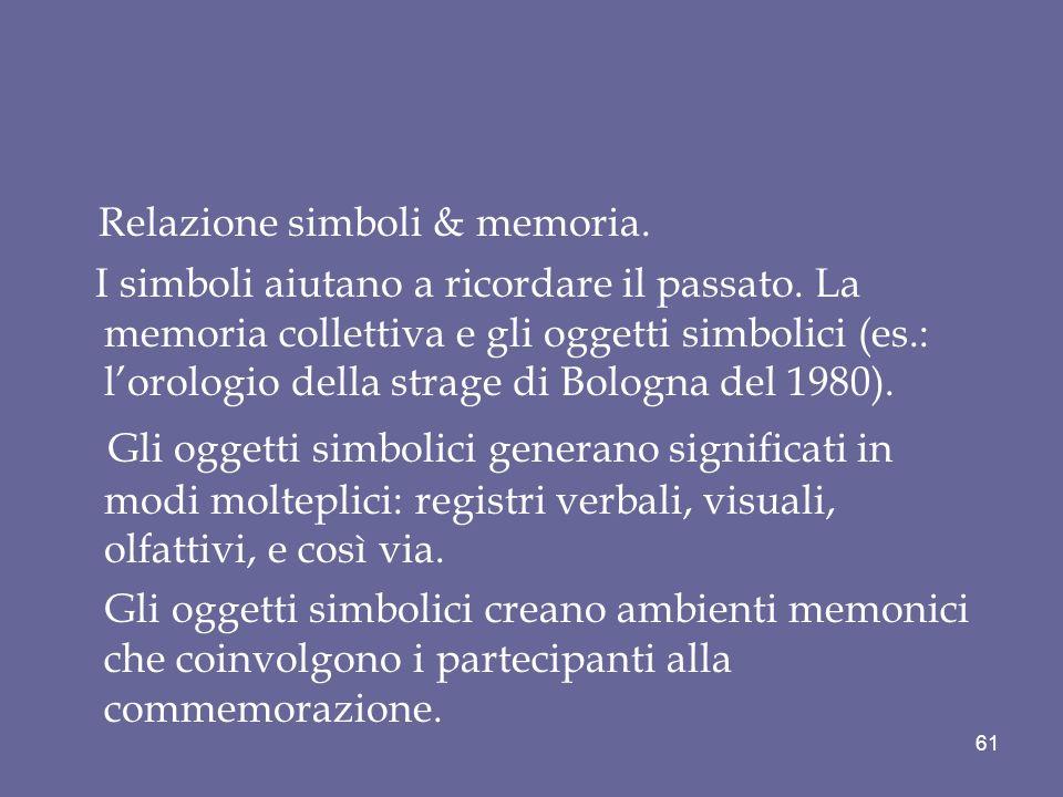 Relazione simboli & memoria.