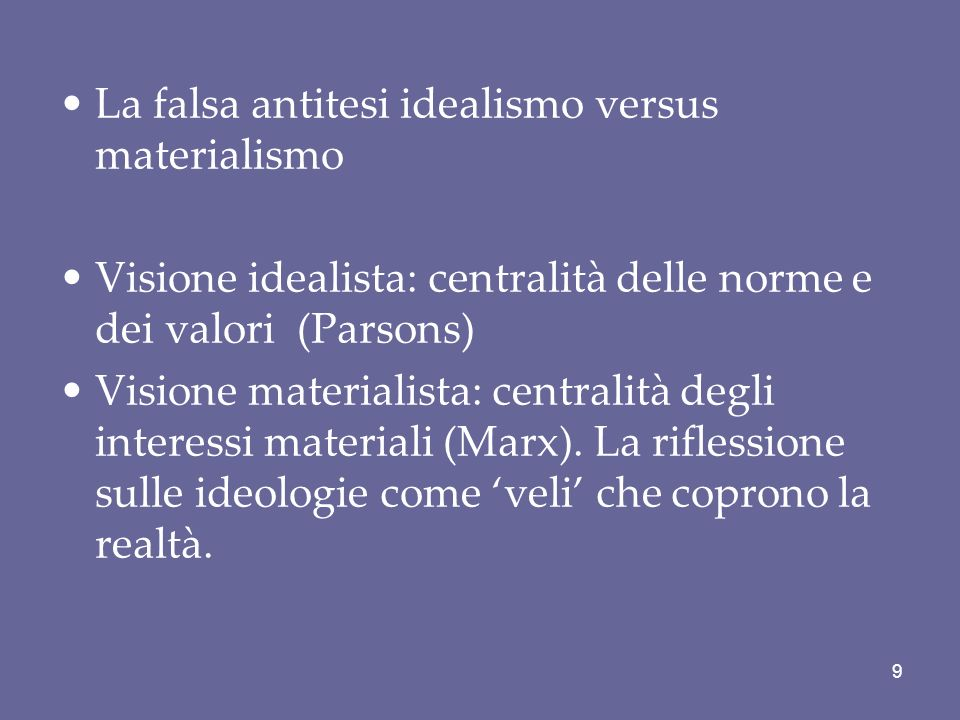La falsa antitesi idealismo versus materialismo