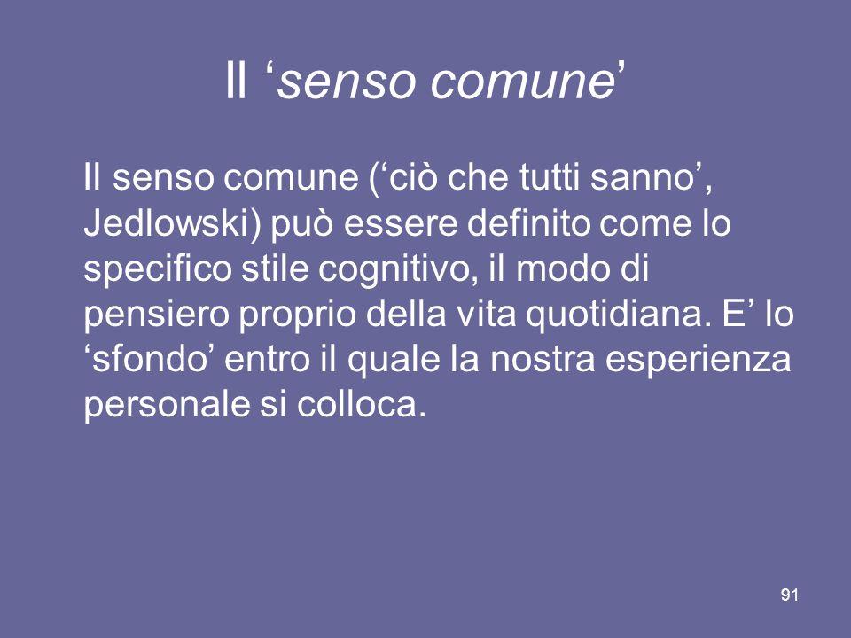 Il 'senso comune'