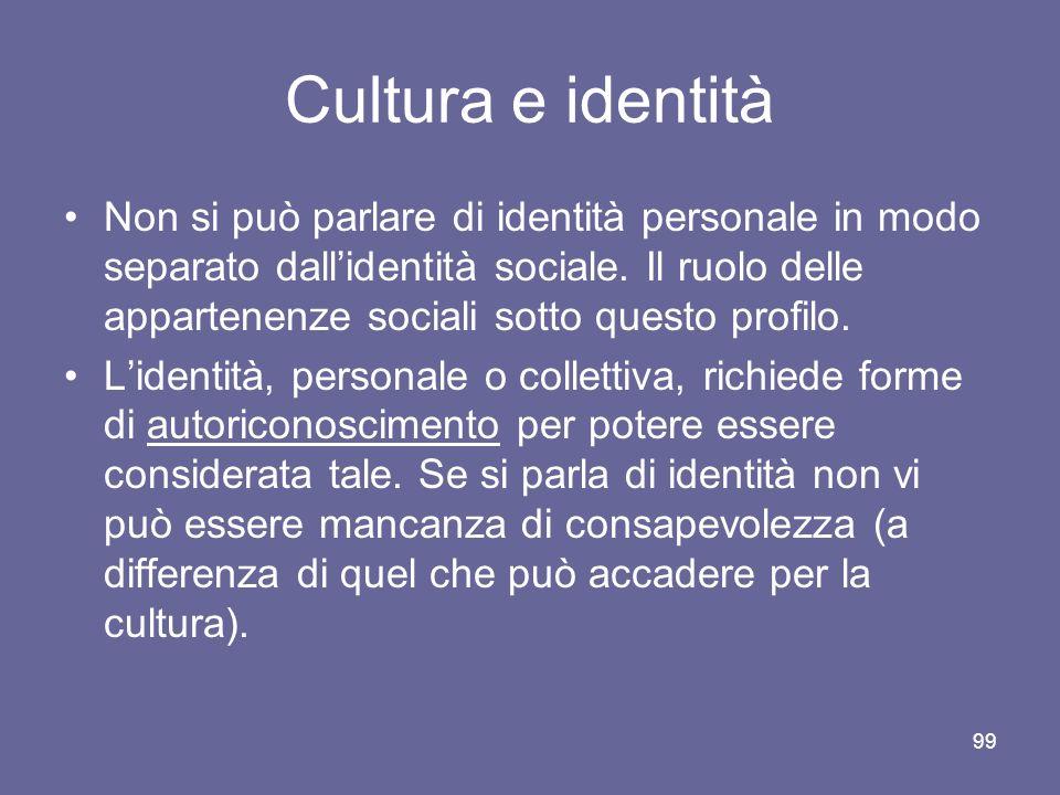 Cultura e identità