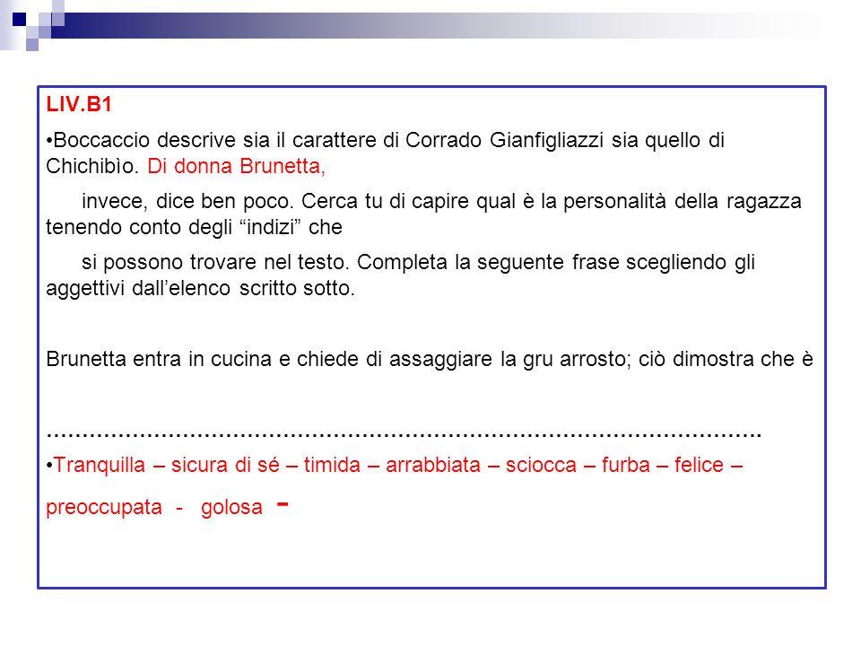LIV.B1 Boccaccio descrive sia il carattere di Corrado Gianfigliazzi sia quello di Chichibìo. Di donna Brunetta,