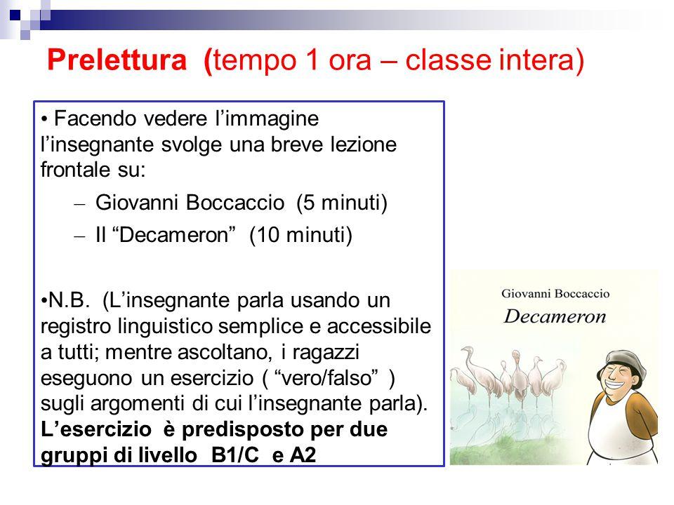 Prelettura (tempo 1 ora – classe intera)