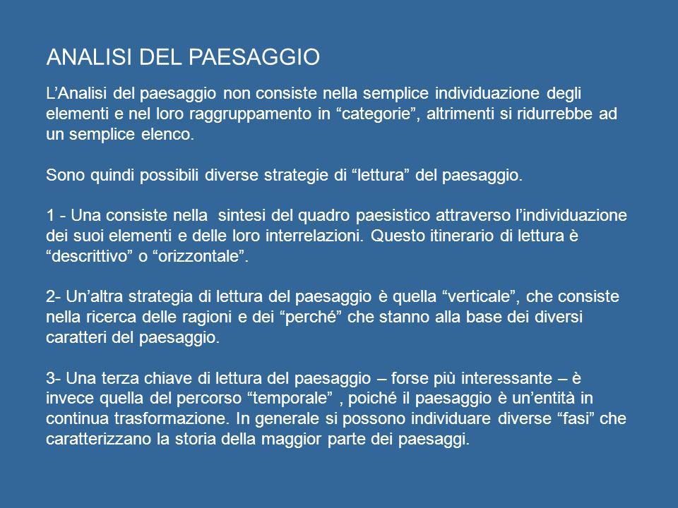 ANALISI DEL PAESAGGIO