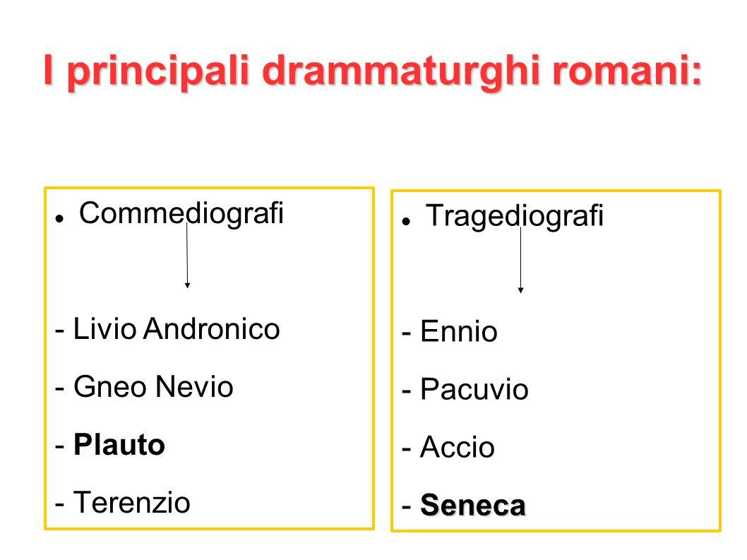 I principali drammaturghi romani: