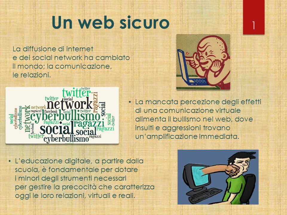 Un web sicuro 1. La diffusione di internet e dei social network ha cambiato il mondo; la comunicazione, le relazioni.