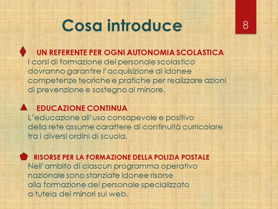 Cosa introduce