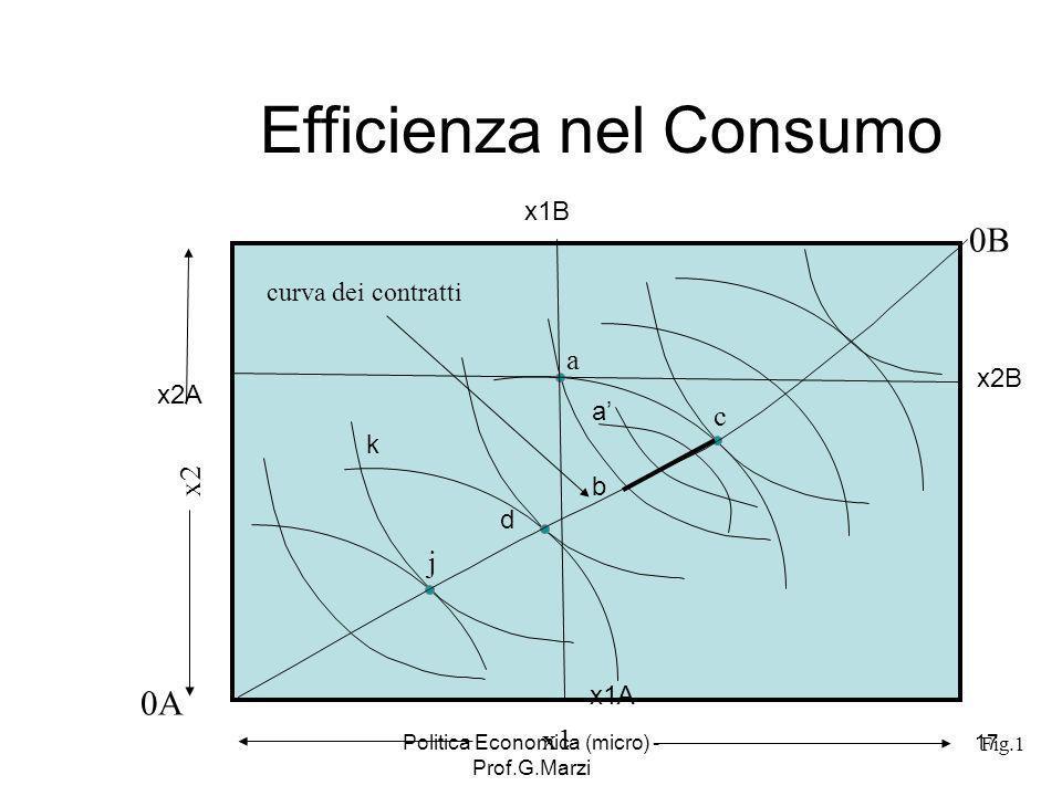 Efficienza nel Consumo