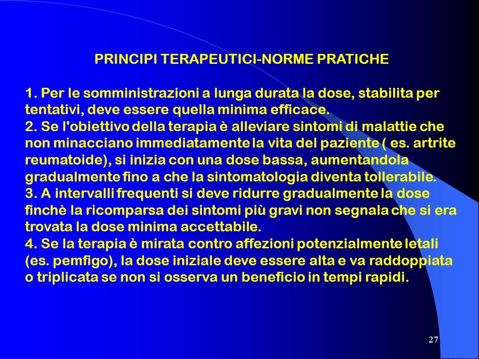 PRINCIPI TERAPEUTICI-NORME PRATICHE