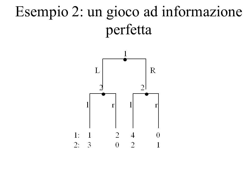 Esempio 2: un gioco ad informazione perfetta