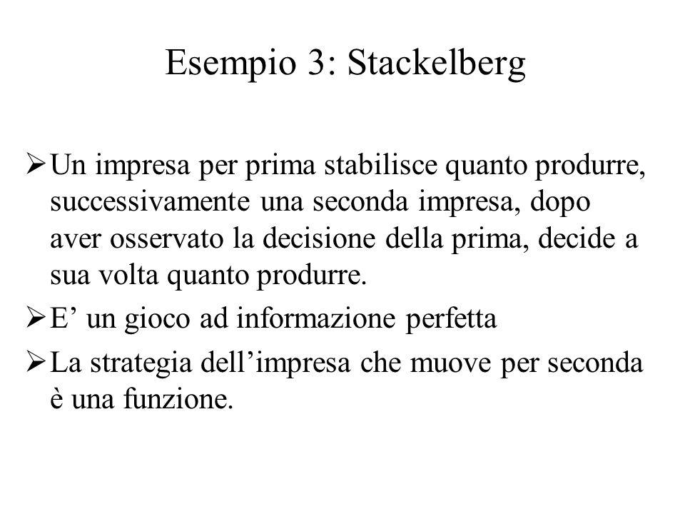 Esempio 3: Stackelberg