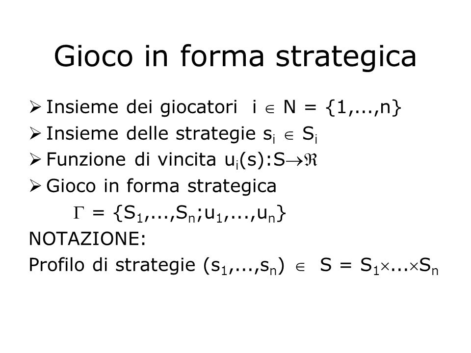 Gioco in forma strategica