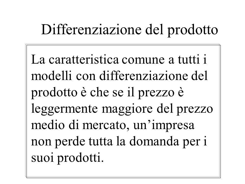 Differenziazione del prodotto