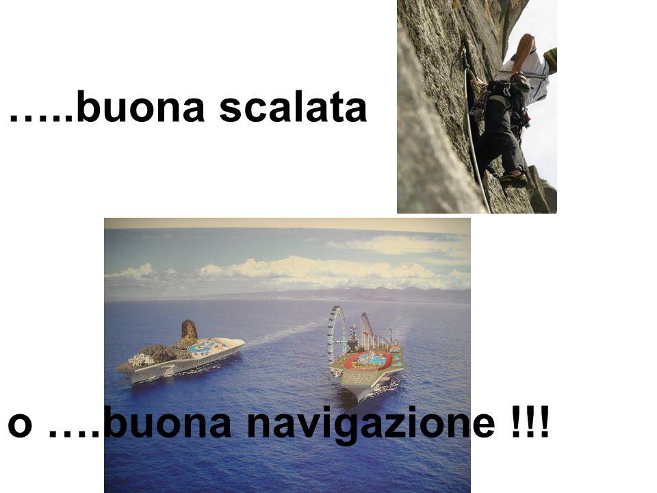 …..buona scalata o ….buona navigazione !!!