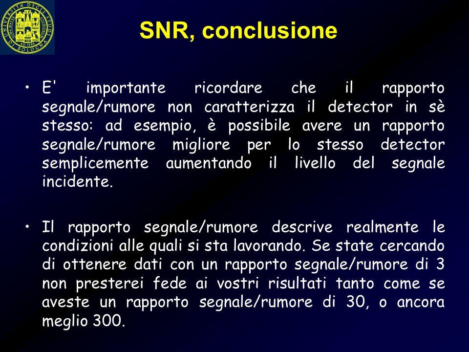 SNR, conclusione