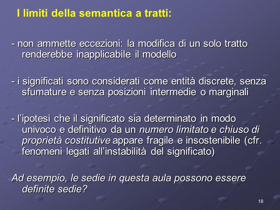 I limiti della semantica a tratti: