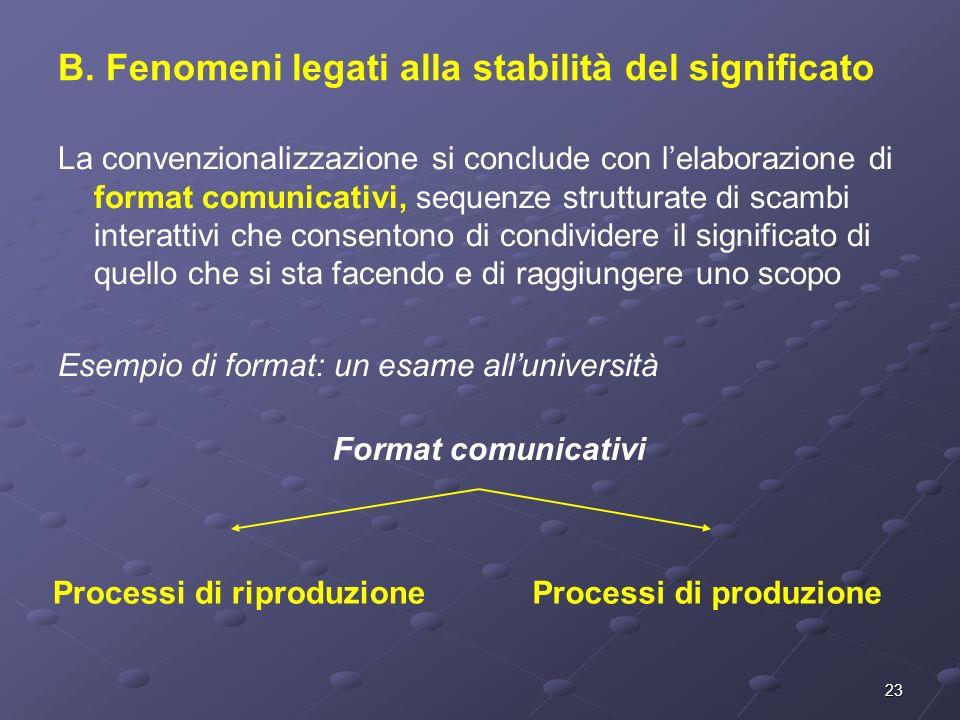 B. Fenomeni legati alla stabilità del significato