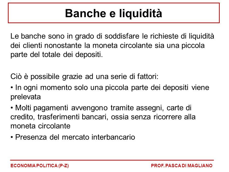 Banche e liquidità