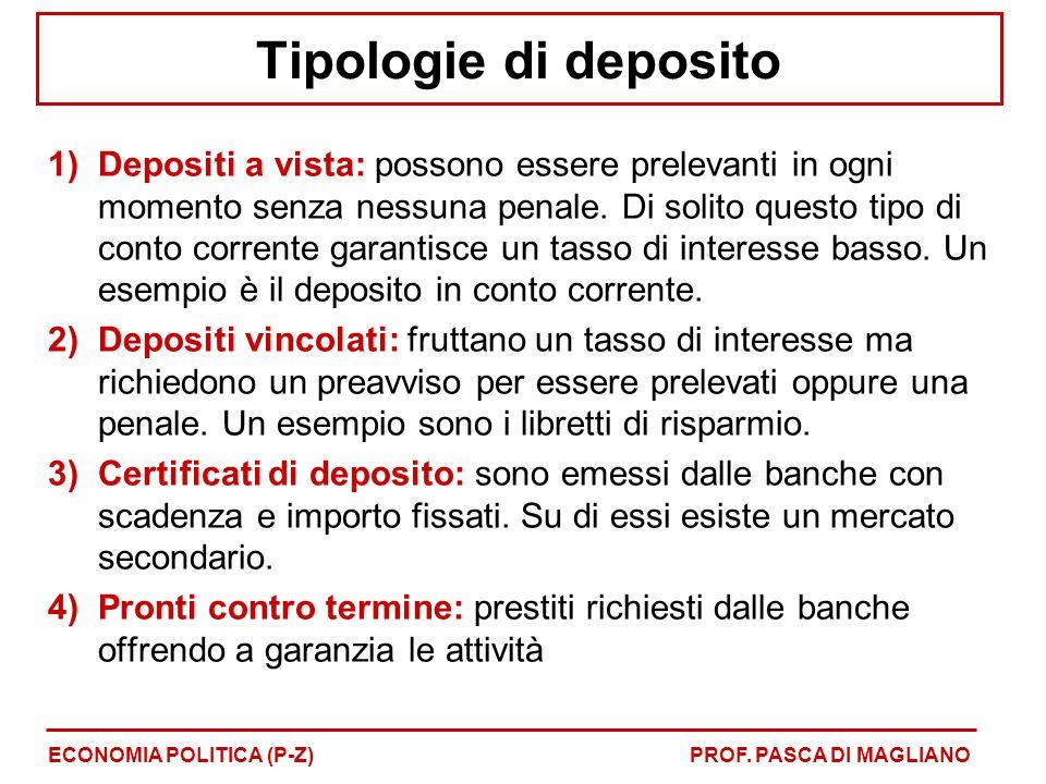 Tipologie di deposito