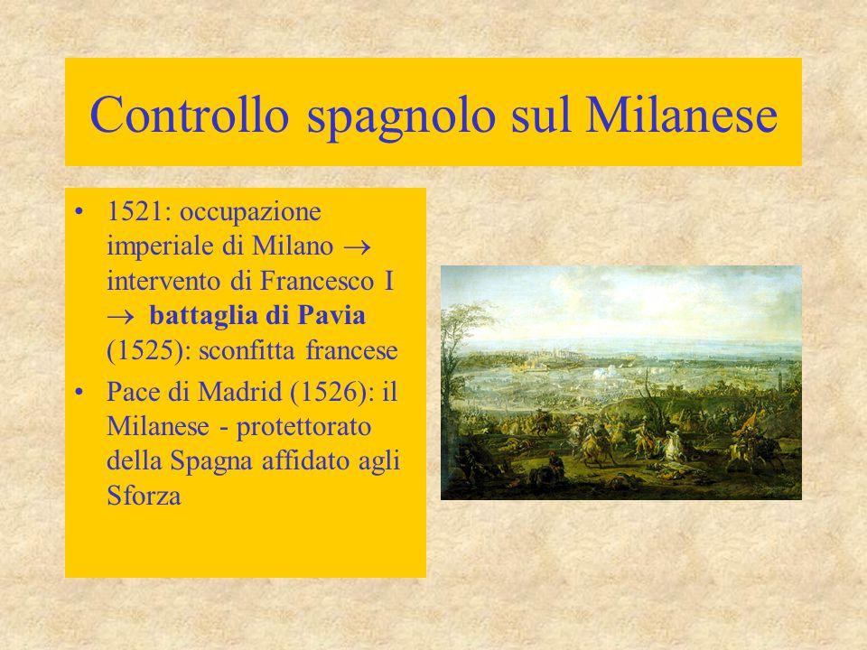 Controllo spagnolo sul Milanese