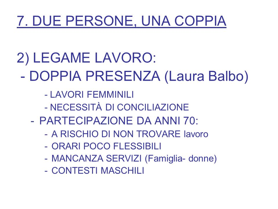 - DOPPIA PRESENZA (Laura Balbo)