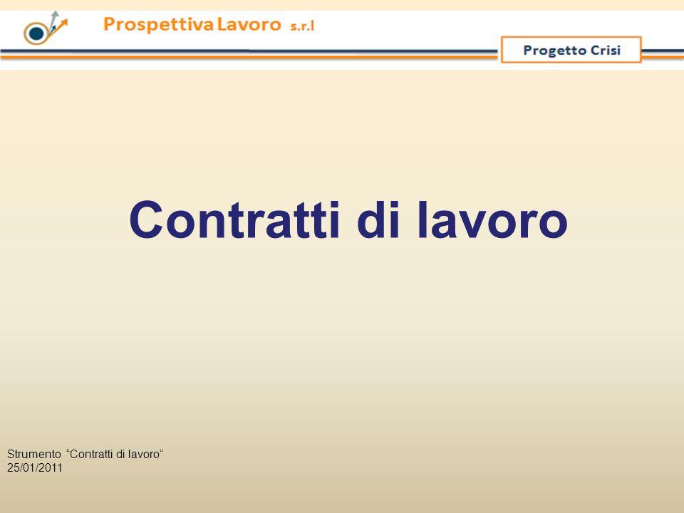Contratti di lavoro Strumento Contratti di lavoro 25/01/2011
