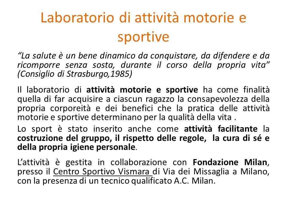 Laboratorio di attività motorie e sportive