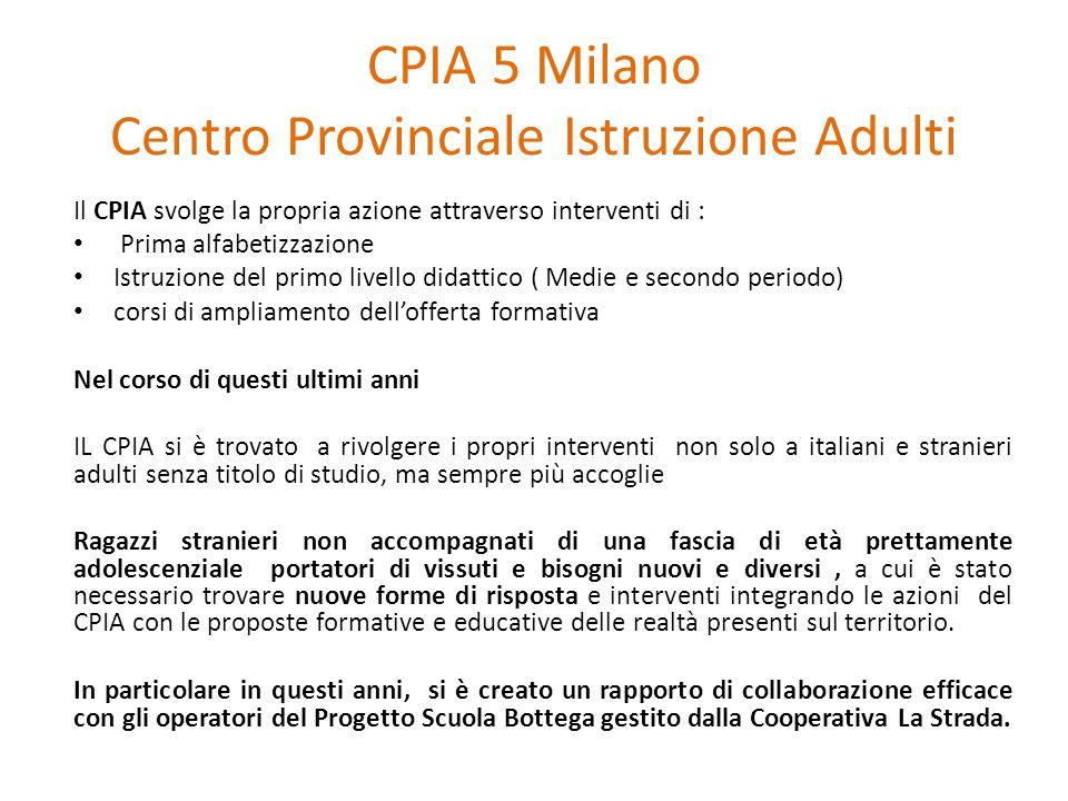 CPIA 5 Milano Centro Provinciale Istruzione Adulti