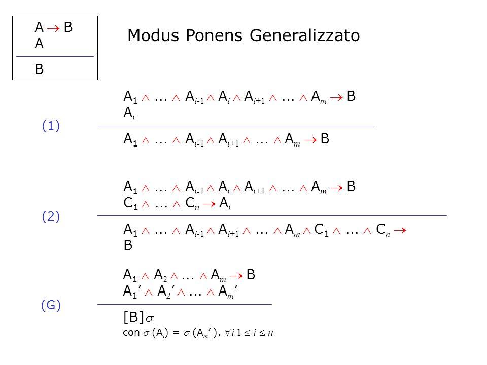 Modus Ponens Generalizzato