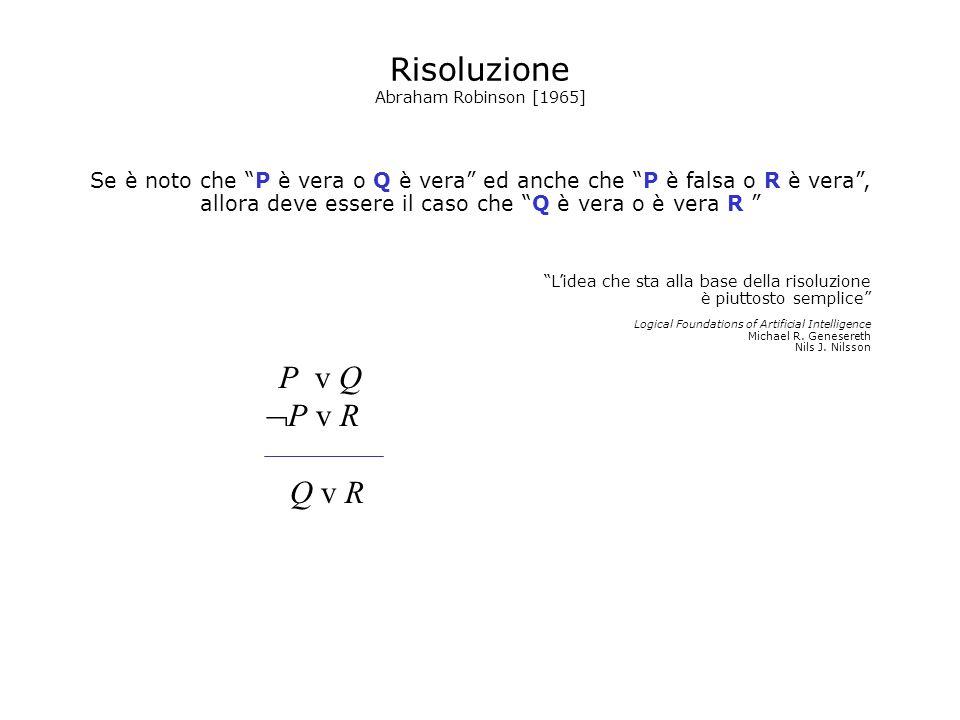 Risoluzione P v R Q v R P v Q