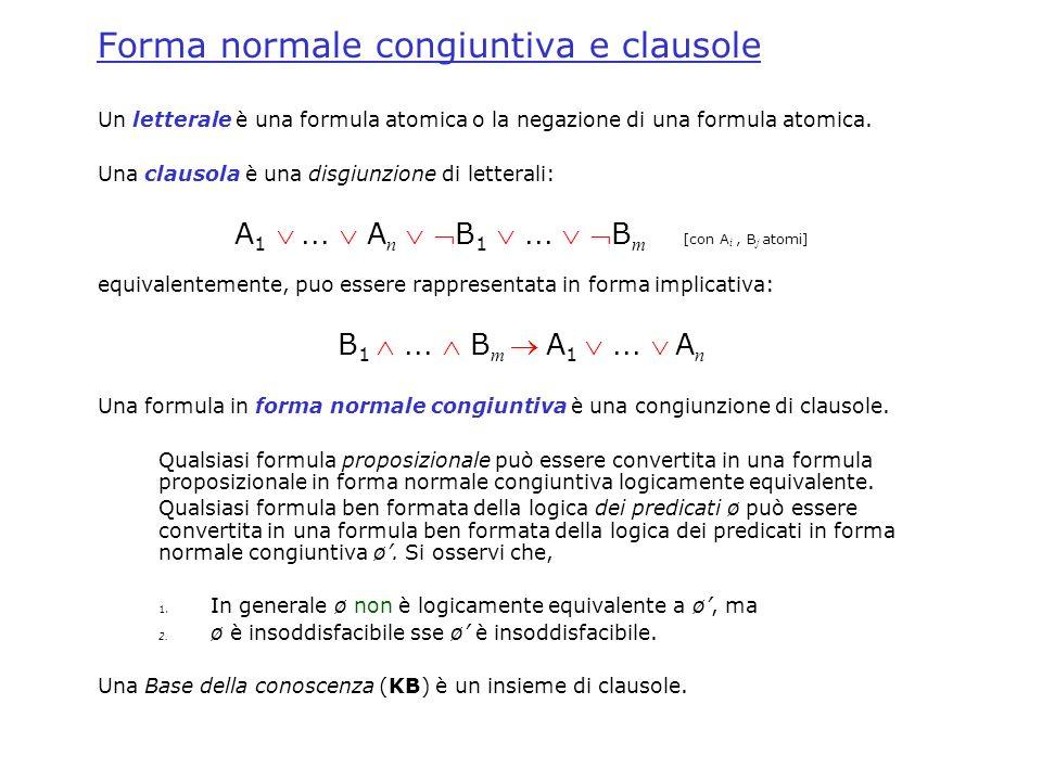 Forma normale congiuntiva e clausole