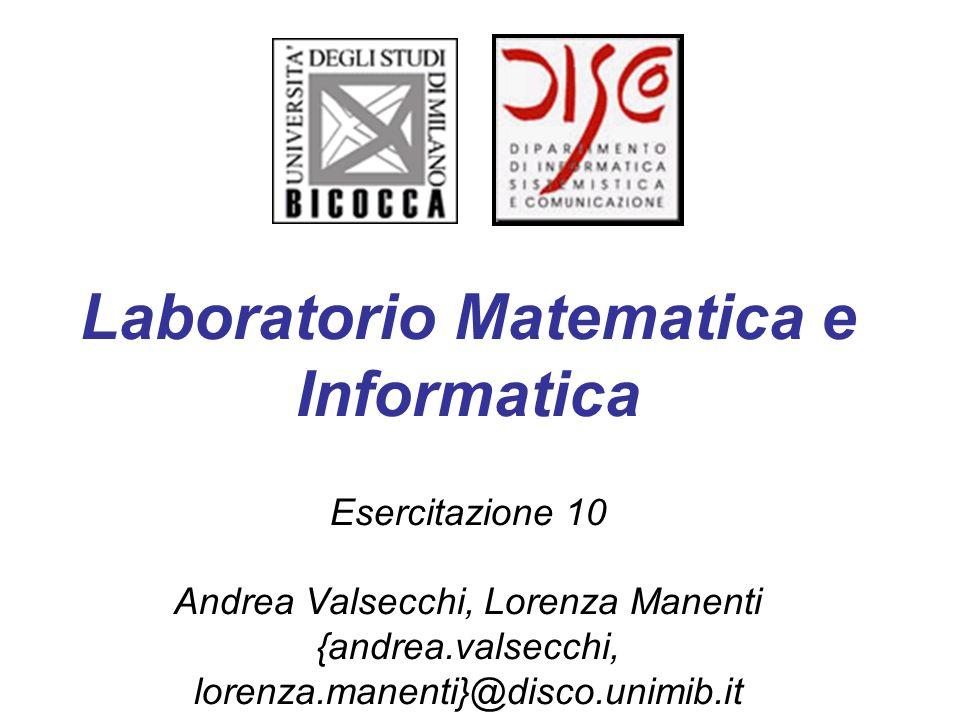 Laboratorio Matematica e Informatica
