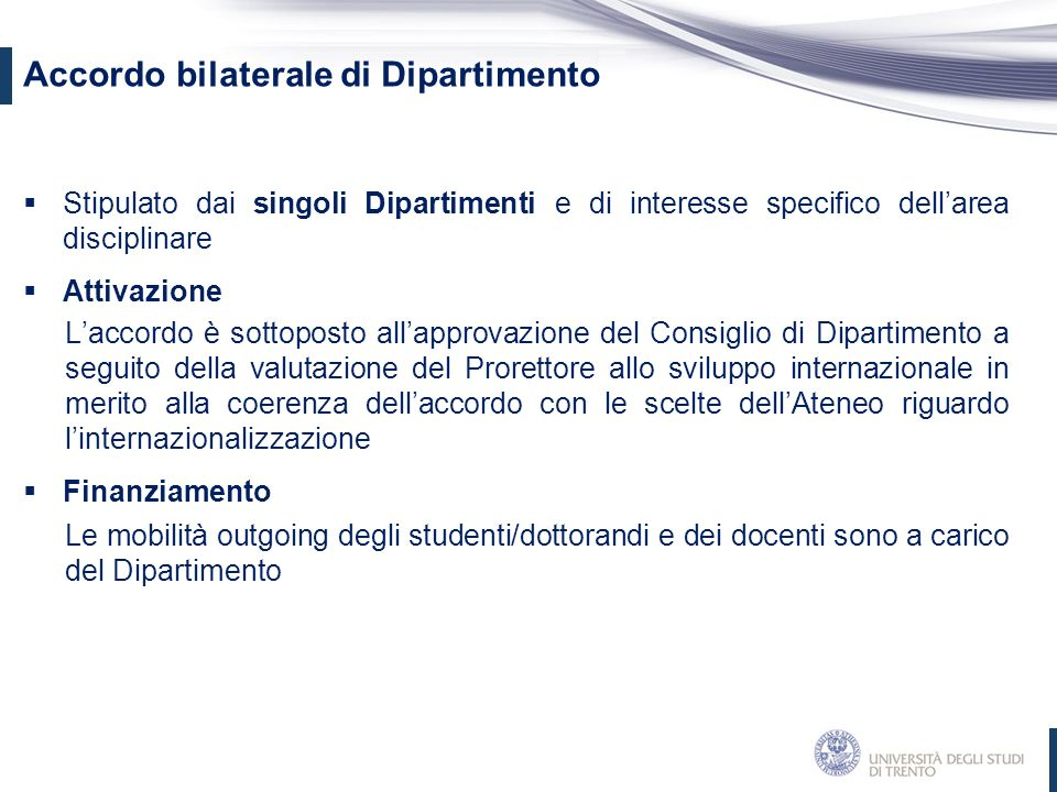 Accordo bilaterale di Dipartimento